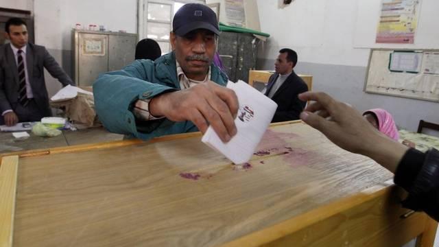 Viele Ägypter gabe ihre Stimme ab