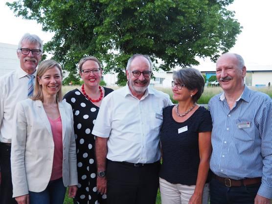 Verabschiedung nach 18 Jahren (v.l.n.r. Hans Rösch, Dr. med. Monya Todesco Bernasconi, Claudia Rohrer, Heinz Steiner, Anna-Regula Spillmann, Otto Zimmermann)
