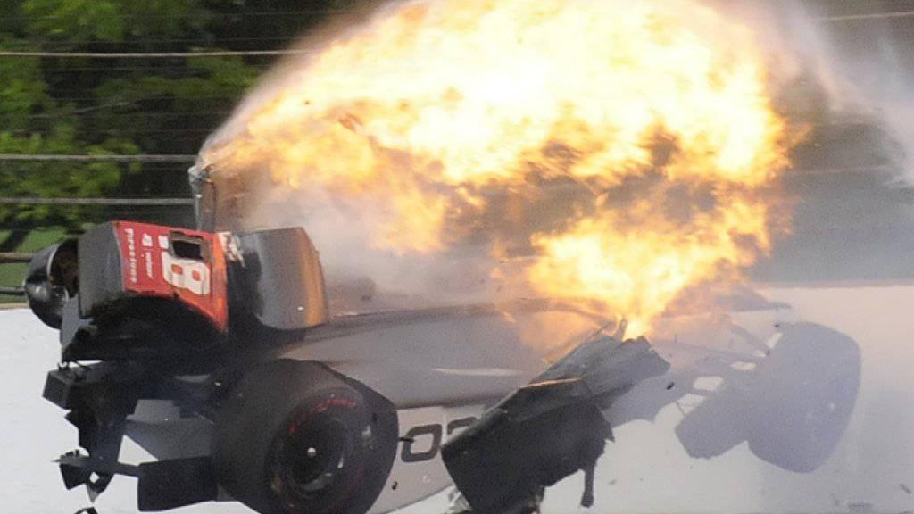 Sebastien Bourdais befand sich in diesem zerfetzten Wagen