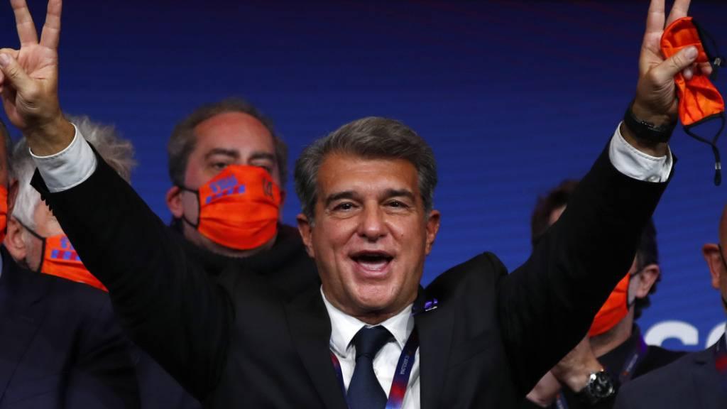 Laporta übernimmt in Barcelona wieder als Präsident