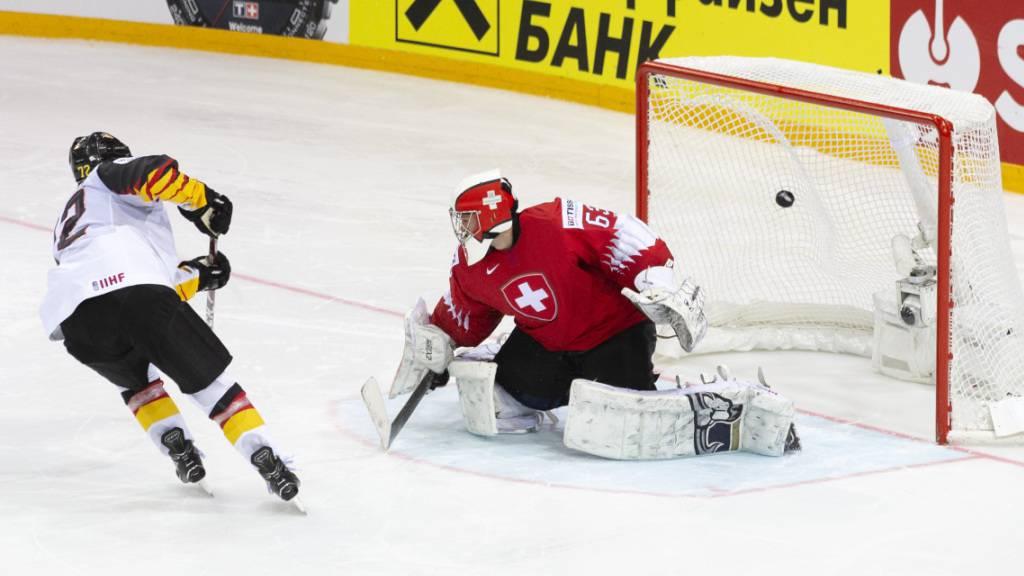 Dominik Kahun war beim Viertelfinal-Sieg Deutschlands gegen die Schweiz im letzten Juni einer der erfolgreichen Penaltyschützen