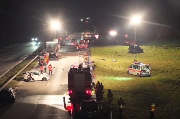 Die Autobahn musste am Abend zwischen 18.25 und 22.25 Uhr gesperrt werden.