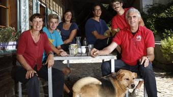 Familie Bolliger auf dem Biohof Rigi in Hessigkofen