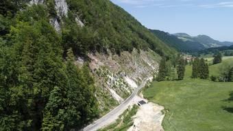 Besichtigung Felssicherungsarbeiten an der Scheltenstrasse im Juni 2019