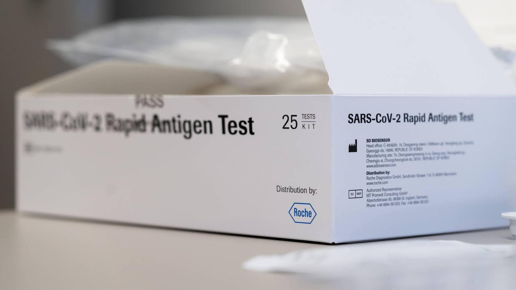 Antigen-Tests der Roche sollen bei der Evaluierung des Moderna-Impfstoffs helfen.