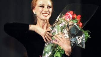 Maja Plissezkaja bei einem Auftritt in Kiew im Mai 1998