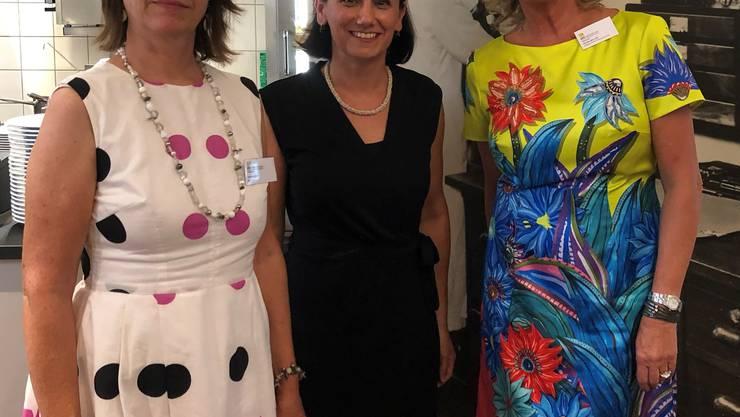 Carmen Droll, Nicole Trotter und Petra Müller (Präsidentin)