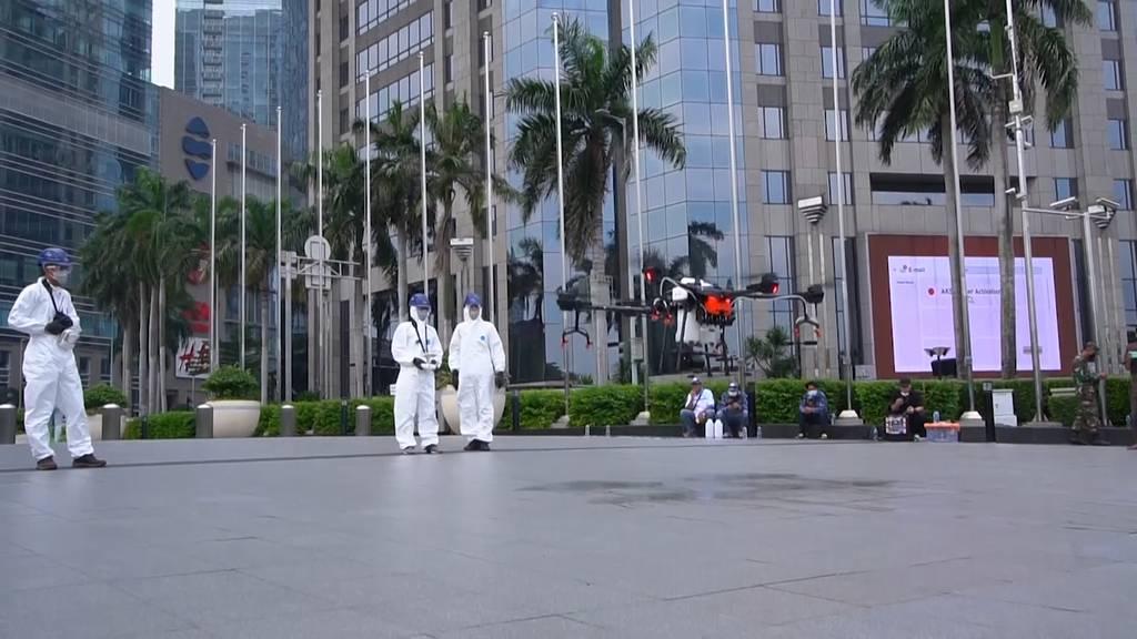 Indonesien: Mit Desinfektions-Drohnen gegen das Coronavirus
