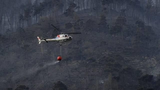 Löschhelikopter bekämpften den Waldbrand (Symbolbild)