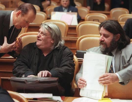 Parteichef neben Flavio Maspoli, 1999