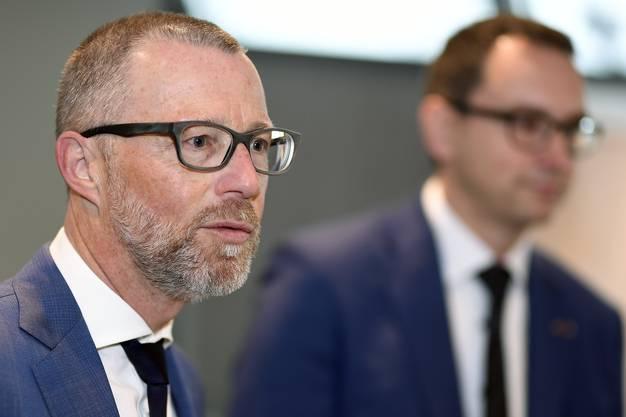 Heinz Huber, CEO Raiffeisen an der Bilanzmedienkonferenz in Zürich am Donnerstag, 27. Februar 2020. (Bild: Keystone)
