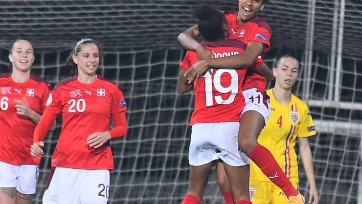 Nach dem 1:0 legte sich die Nervosität im Schweizer Spiel