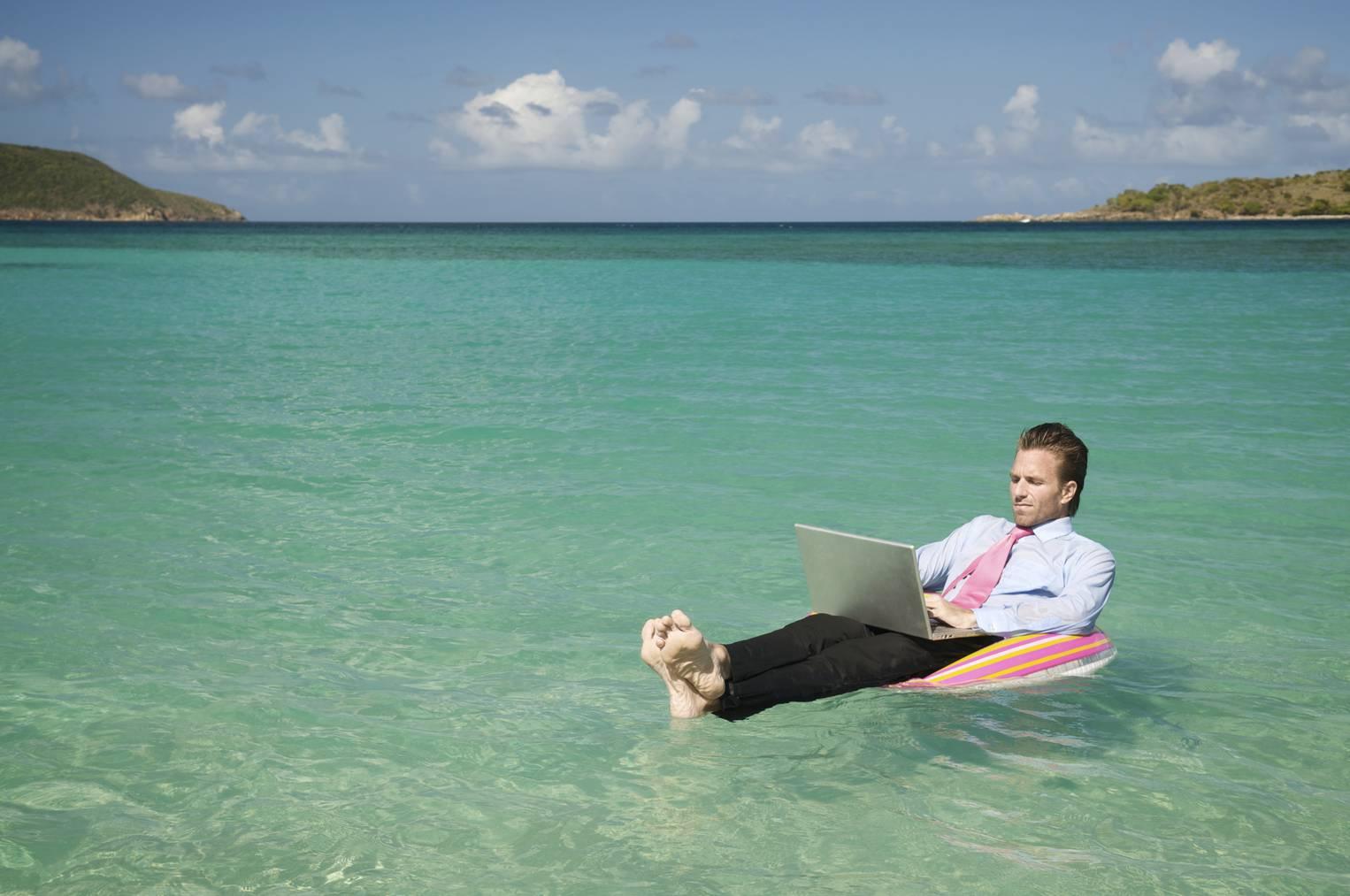 Arbeit Laptop Meer Ferien