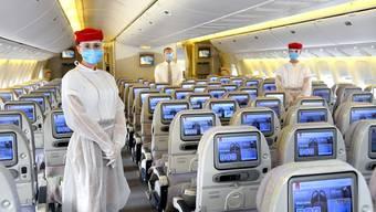 Emirates hat die Hygiene-Massnahmen an Bord seiner Flugzeuge verstärkt.