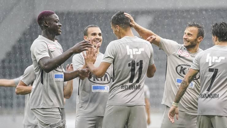 Der FC Aarau gewinnt in einer torreichen Partie gegen den FC Schaffhausen mit 4:2.
