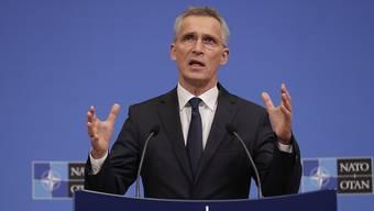 Nato-Generalsekretär Jens Stoltenberg spricht beim Treffen der Verteidigungsminister des Bündnisses in Brüssel.