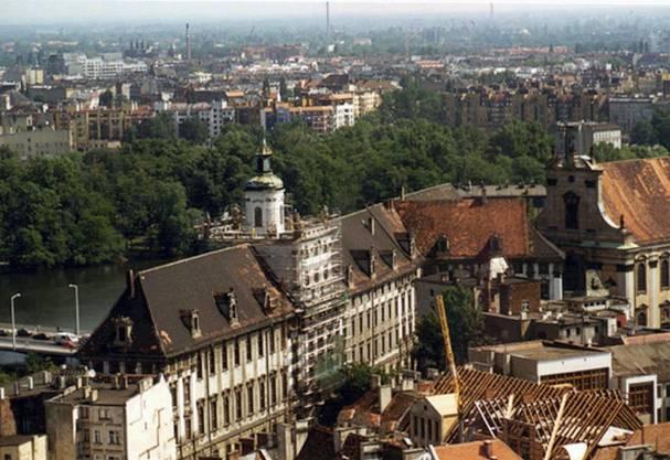 Ein undatiertes Bild der Stadt Breslau in Polen