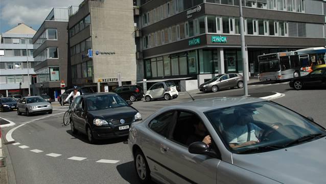 Auch der Aargauerknoten beim Regierungsgebäude ist zu den Spitzenzeiten bereits heute überlastet.