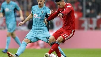 James Rodriguez (rechts) steht Bayern München vorderhand nicht zur Verfügung