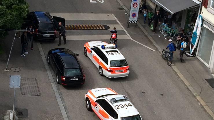 Grossaufgebot der Polizei am Mittwochnachmittag in Olten.