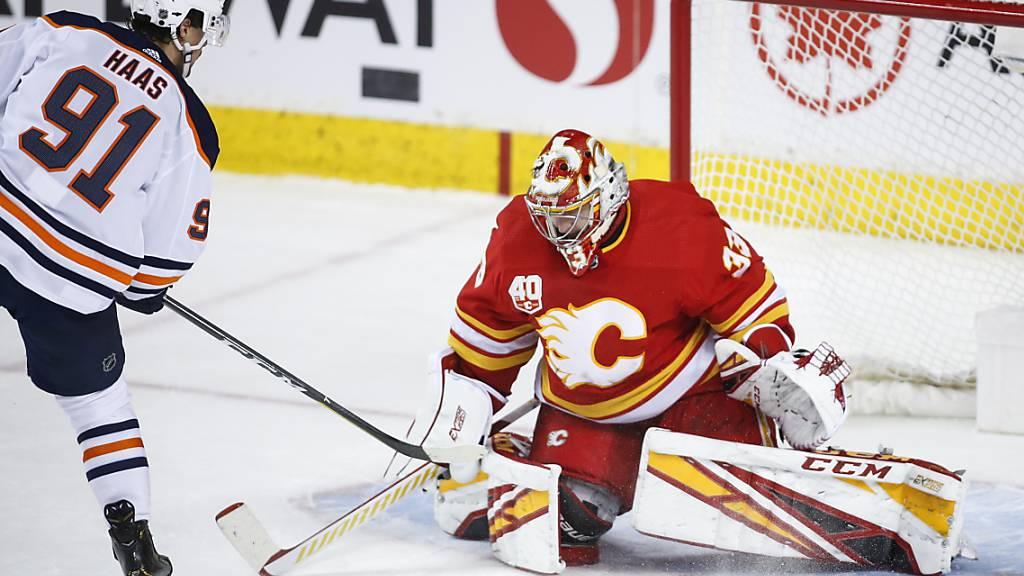 Haas erstmals mit einem Zweipunkte-Spiel in der NHL