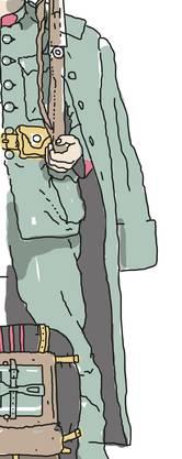 Piece de résistance war der riesige Mantel, den man mindestens zu dritt zusammenrollen musste, damit er in die Packung passte.