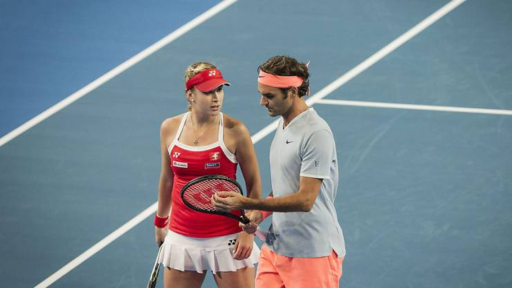 Auch 2018 stehen Belinda Bencic und Roger Federer wieder gemeinsam am Hopman Cup auf dem Platz
