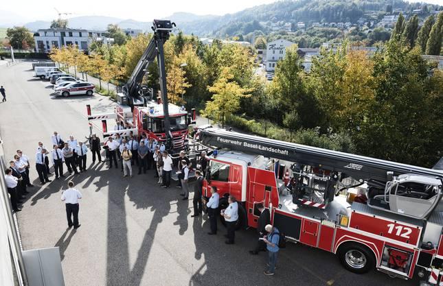 Liestal 29.9.2017 - Die Feuerwehr Baselland hat zwei neue Einsatzfahrzeuge bekommen.