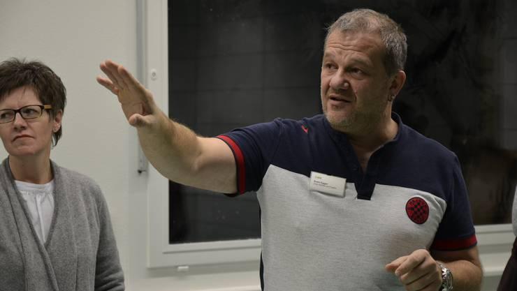 Sven Egger, Leiter Dienste und Projekte, führte durch die Baustelle.