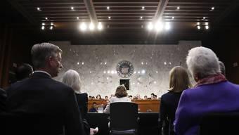 Haspel (M.) bei der Befragung durch die zuständige Senatskommission: In ihren Aussagen distanzierte sie sich klar von der Anwendung von Folter beim CIA.
