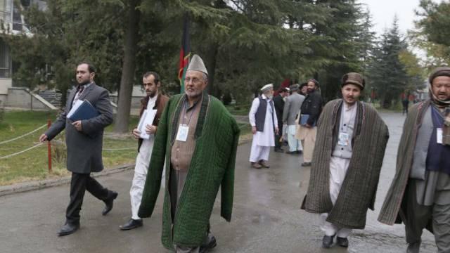 Afghanische Delegierte treffen zur Loja Dschirga in Kabul ein