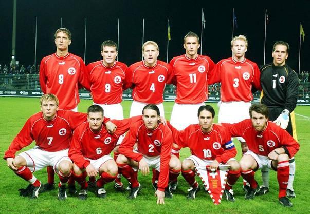 Lang ist's her: Grichting (3. v.l.) 2001 mit der U21-Nati neben Frei und co.