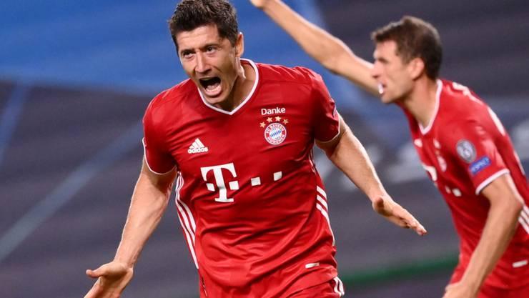 Robert Lewandowski und seine Bayern-Mitspieler reisen im Februar nach Katar