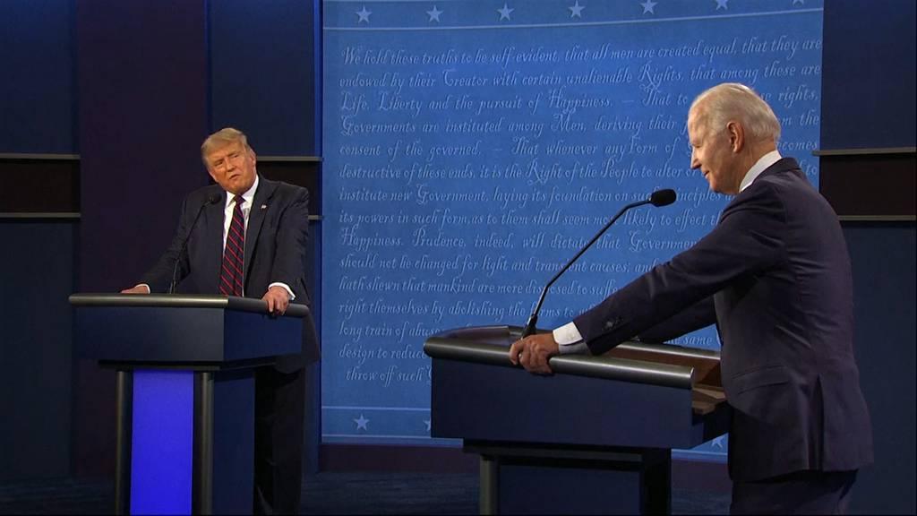 «Halt doch endlich die Klappe» - Chaos und Beleidigungen beim ersten TV-Duell von Trump und Biden