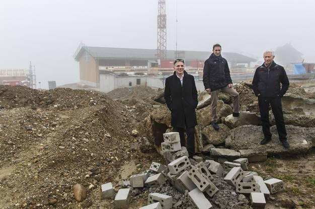 V.l.: Guido Keune (Stv. Kantonsbaumeister), Jonas Zürcher (Direktor Wallierhof), Silvan Nünlist (Projektleiter Hochbauamt)