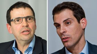 Die FDP-Parteikollegen Jauslin und Burkart haben das Heu für einmal nicht auf der gleichen Bühne.