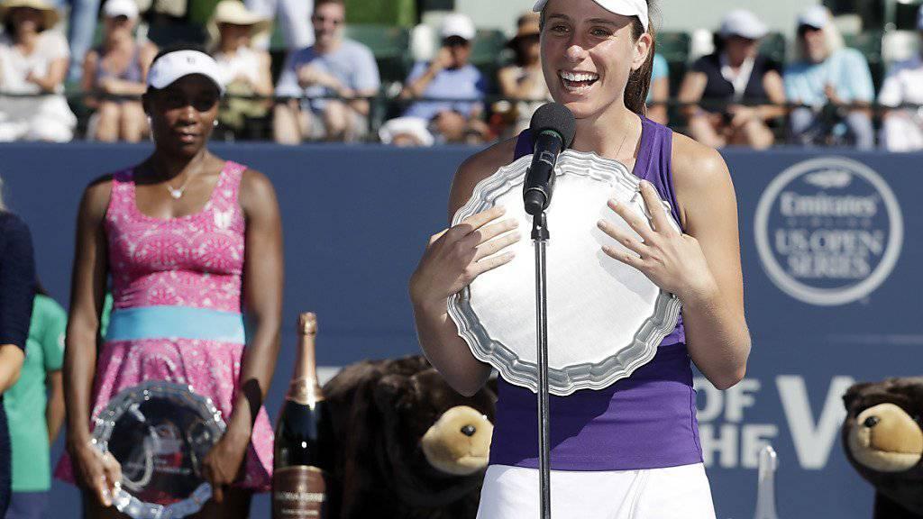 Johanna Konta stahl Venus Williams im Final von Stanford die Show
