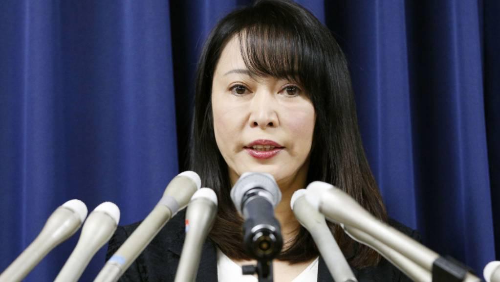 Japans Justizministerin Masako Mori äussert sich am Sonntag zur Flucht des Automanagers Carlos Ghosn aus Japan - und sie bezeichnete die Ausreise als nicht akzeptierbar. (Archivbild)
