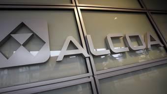 Das Alcoa-Logo am Hauptsitz der Firma in Pittsburgh. (Archiv)
