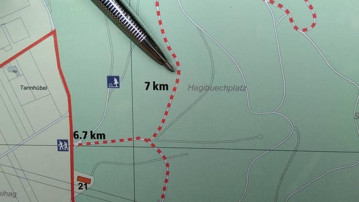 """Das Tötungsdelikt ereignete sich im Waldstück """"Rüsler"""", beim Hagibuechplatz."""