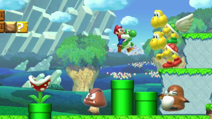 """Das Videospiel """"Super Mario Maker"""" von Nintendo ist beliebt."""
