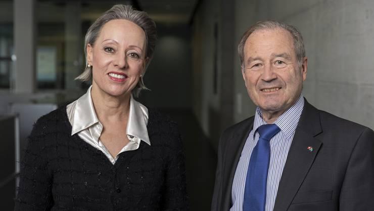 Maximilian Reimann und Barbara Buhofer von der Aargauer Seniorenliste Team 65+.