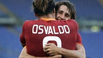 AS-Roma-Torschützen Osvaldo und Bojan