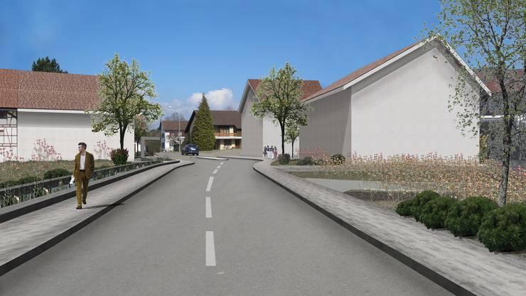 So könnte die Einfahrt nach Freienwil - von Baden aus gesehen - gestaltet werden