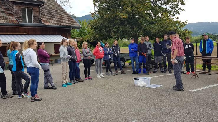 Projektwoche einer Schulklasse der Kreisschule Matzendorf