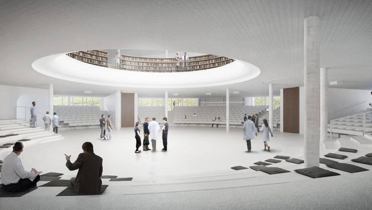 Soll soll das neue Universitäts-Kinderspitals in Zürich Lengg einst aussehen: Das Auditorium.