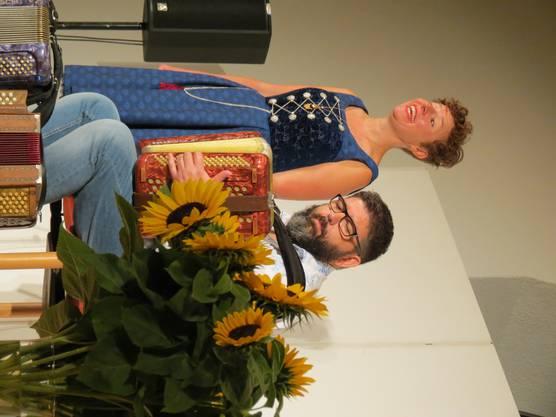 Nadja Räss und Markus Flückiger begeisterte das Publikum mit ihrem Konzert in der Zähnteschüür in Oberrohrdorf