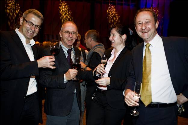 Thomas Bumbacher, Peter Blöchlinger (v. l.), Andrea Kröplin, Roberto Scheuer (Trafoteam)