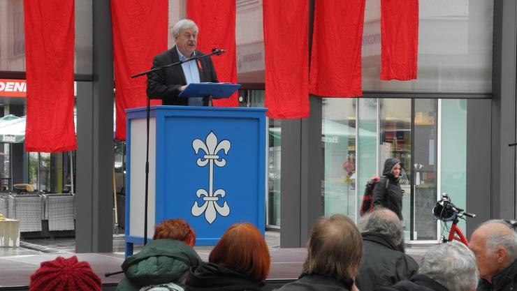 Rolf Steiner äusserte sich in seiner Rede auch zur kontroversen Statthalterwahl.