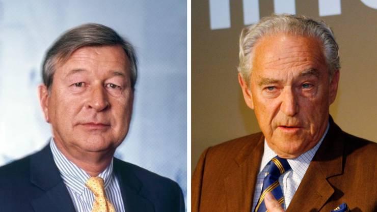 Marcel Ospel (links) und Rainer Gut (rechts).